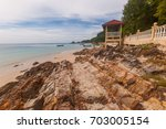 the view of pulau kapas located ... | Shutterstock . vector #703005154