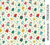 merry christmas. seamless... | Shutterstock .eps vector #703018156