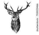 Deer Sketch Vector Graphics...