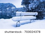 Romantic White Bench Covered...
