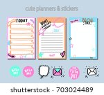 planner   daily planner   cute... | Shutterstock .eps vector #703024489