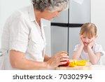little girl looking at her... | Shutterstock . vector #70302994