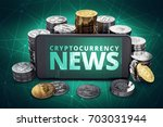 cryptocurrency news text on... | Shutterstock . vector #703031944