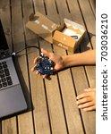 german programming platform... | Shutterstock . vector #703036210