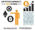 person show cryptocurrency... | Shutterstock .eps vector #703038064