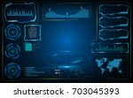 vector hud ui screen digital... | Shutterstock .eps vector #703045393