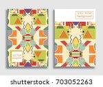 vector abstract composition ... | Shutterstock .eps vector #703052263