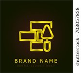 bricks golden metallic logo
