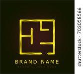 plan golden metallic logo