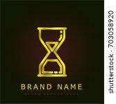 sand clock golden metallic logo