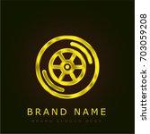 car wheel golden metallic logo | Shutterstock .eps vector #703059208