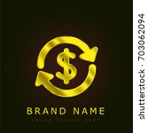 money exchange golden metallic... | Shutterstock .eps vector #703062094