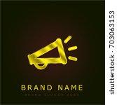 megaphone golden metallic logo