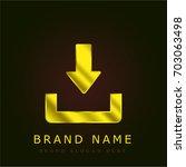 download button golden metallic ...