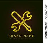 tools golden metallic logo