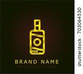sun lotion golden metallic logo