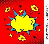 comic book. yellow cloud | Shutterstock .eps vector #703064578