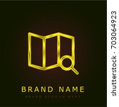 maps golden metallic logo