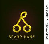 cherry golden metallic logo