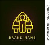 bed golden metallic logo