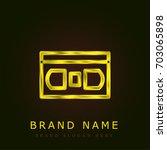 vhs golden metallic logo