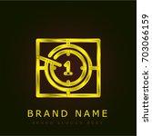 countdown golden metallic logo