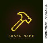hammer golden metallic logo