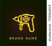 driller golden metallic logo
