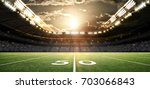 american football stadium  3d... | Shutterstock . vector #703066843