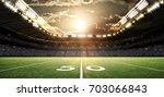 american football stadium  3d... | Shutterstock . vector #703066843