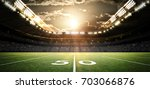 american football stadium  3d... | Shutterstock . vector #703066876