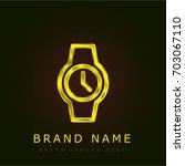 watch golden metallic logo