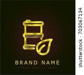 bio golden metallic logo