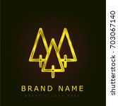 forest golden metallic logo