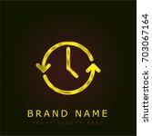 time golden metallic logo
