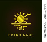 sunrise golden metallic logo