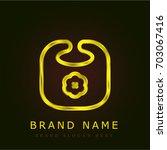 bib golden metallic logo