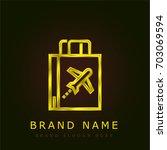 duty free golden metallic logo
