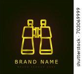 binoculars golden metallic logo