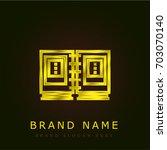 album golden metallic logo