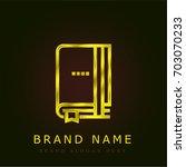 agenda golden metallic logo