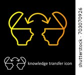 knowledge transfer icon... | Shutterstock .eps vector #703070926