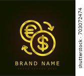 exchange golden metallic logo
