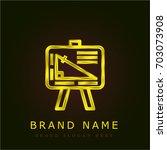 geometry golden metallic logo