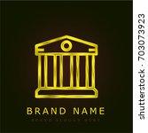 bank golden metallic logo