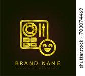 control golden metallic logo