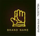 glove golden metallic logo