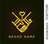 agreement golden metallic logo