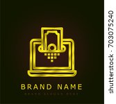 money golden metallic logo
