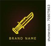knife golden metallic logo